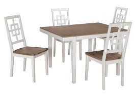 Cream Colored Dining Room Furniture by Comfort Zone Mattress Brovada Two Tone Rectangular Dining Room