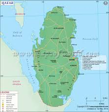Longitude Map Qatar Map Map Of Qatar