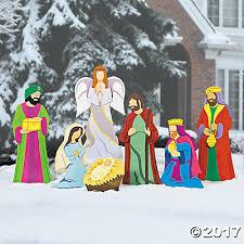 nativity yard stakes