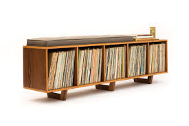 vinyl lp storage bench peter deeble