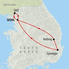 Korea On Map South Korea Tours Holidays To South Korea On The Go Tours Au