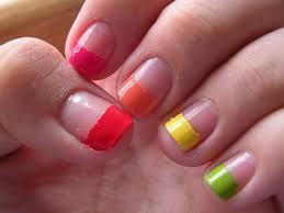 laura u0027s nail art rainbow nails