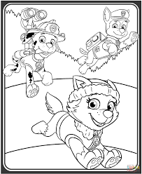 everest marshall chase coloring free printable