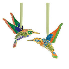 cloisonne hummingbirds ornaments set of 2 gump s