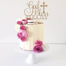 baptism cake toppers god bless cake topper cake topper cake decoration personalised
