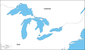 canadian map with great lakes great lakes free map free blank map free outline map free base