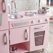 kidkraft cuisine vintage 53179 kidkraft vintage wooden play kitchen in pink walmart com