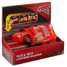 animated wrecked car disney pixar cars 3 race u0026 reck u0027 lightning mcqueen vehicle