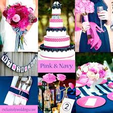 navy blue and pink wedding decorations fuchsia pink wedding