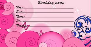 amazing printable birthday invitation cards hd picture ideas for