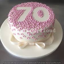 70th birthday cake ideas pretty pink flowers outline for this 70th birthday cake tortas
