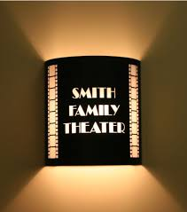 theater room sconce lighting custom theater sconce with vertical filmstrips forever home