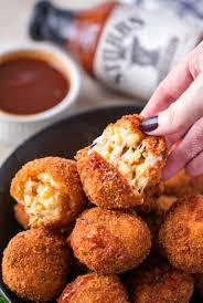 bbq pulled pork fried mac and cheese bites the chunky chef