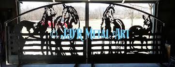 driveway gates four horses fence decorative ornamental plasma