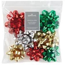 assorted metallic ribbon christmas gift bows pack of 8 bows