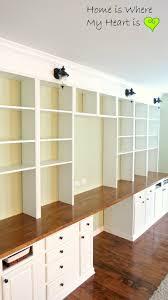 Corner Desk Ideas by Interior Built In Corner Desk Ideas Remodelaholic Build A Wall