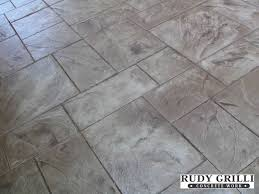 Textured Concrete Patio by Large Ashlar Slate Stamped Concrete Patio Patterns Stamped