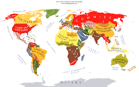 america in world map this map shows what america really thinks of the entire world