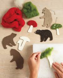 needle felted woodland ornaments martha stewart