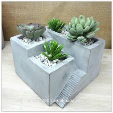Concrete Succulent Planter Cement Pot Tabletop Concrete Succulent Planter Buy Planter