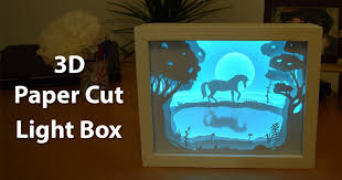 how to make a photo light box how to create a 3d paper cut light box diy project creativity hero