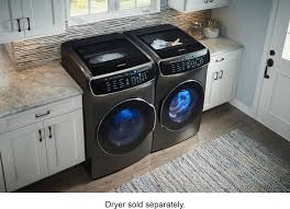 Gas Clothes Dryers Reviews Samsung Flexwash 6 0 Cu Ft Washer With Steam Black Wv60m9900av