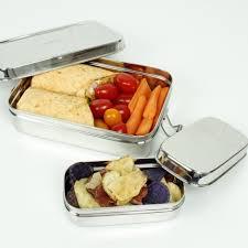 recipient inox cuisine boîte en inox rectangulaire avec mini récipient 700 ml sebio