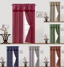 Curtains With Matching Valances Rust Curtains Ebay