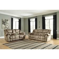 Reclining Loveseat W Console Ashley Furniture Jodoca Reclining Livingroom Set In Driftwood