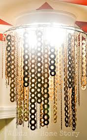 Flat Chandelier Diy Flat Washer Chandelier Whats Ur Home Story
