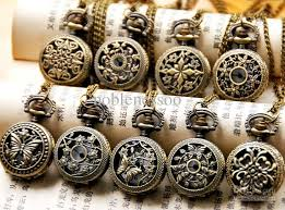 pendant pocket watch necklace images 9 model ladies gorgeous stamped pocket watch charm pendant jpg
