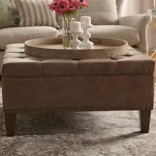 ottomans oversized rectangular ottoman leather ottoman with