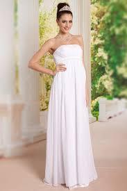 empire mariage robe simple fiançailles longue enceinte blanche empire mousseline