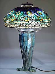 Louis Comfort Tiffany Lamp Peacock Lamp 1900 1906 Designed By Clara Driscoll Photo Colin