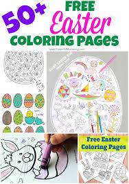 50 free easter coloring pages