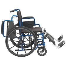 Drive Wheel Chair Drive Blue Streak Wheelchair Flip Desk Arms Leg Rests 20 In