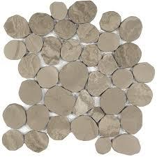 shop anatolia tile spellbinder pebble mosaic marble wall tile