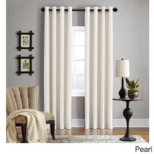 96 Inch Curtains Blackout by Grand Luxe Linen Gotham Pearl Grommet Curtain Panel 96 Inch Pearl