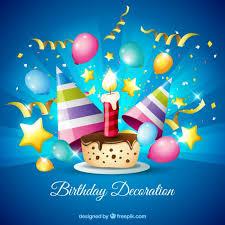imagenes de cumpleaños sin letras pastel de chocolate con decoración de cumpleaños descargar
