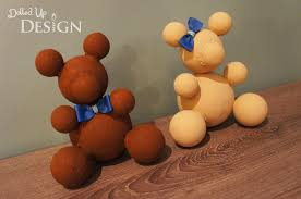 foam ball teddy bear craft