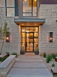 Glass Front House Glass And Metal Front Door Houzz