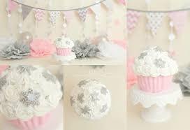 Pink Chandelier Mary Beth Pinks Silver Winter Wonderland Cake Smash Cake Smash