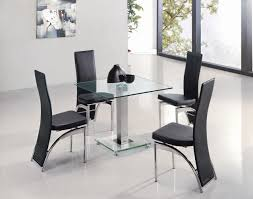 Glass Dining Table Set 4 Chairs Glass Dining Table For 4 Gallery Dining