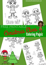 free printable christmas elves coloring pages u2013 miniature masterminds