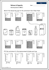worksheet on volume worksheets