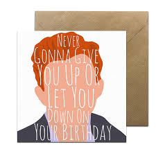 Rick Astley Meme - rick astley card funny rick roll card music birthday card