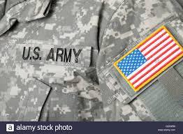 Army Ranger Flag Usa Flag U S Army Patch On Military Uniform Stock Photo Royalty