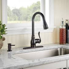 moen anabelle kitchen faucet shop moen anabelle spot resist stainless 1 handle deck mount high
