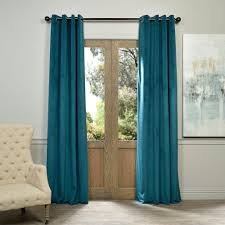 Teal Curtain Exclusive Fabrics Furnishings Blackout Signature Everglade Teal