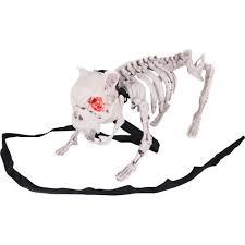 life size posable skeleton halloween barking dog skeleton halloween decoration walmart com
